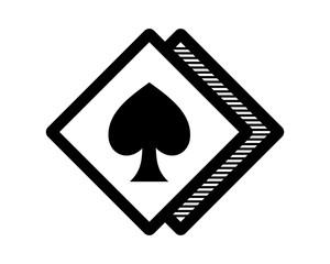ace spade flush jackpot rhombus icon image vector logo symbol