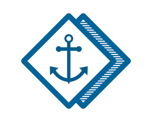 blue anchor port dock sailor marine navy image vector icon logo symbol rhombus