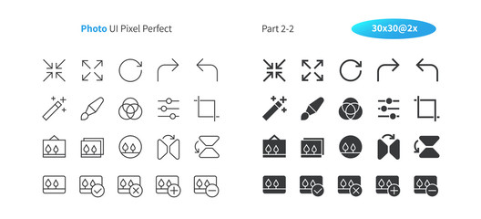 Photo UI Pixel Perfect Well-crafted Vector Thin Line And Solid Icons 30 2x Grid for Web Graphics and Apps. Simple Minimal Pictogram Part 2-2