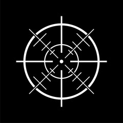 Hunting sight icon on dark background