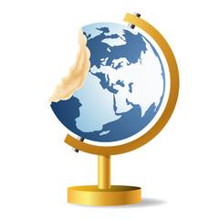 terre - globe - environnement - océan - énergie - écologie - concept - symbole - énergie renouvelable