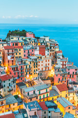 Manarola Village, Cinque Terre Coast of Italy