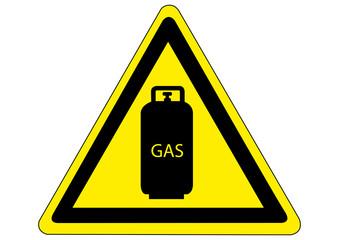 Schild Gefahr durch Gasflaschen