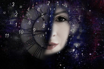 Woman ,numerology world and time