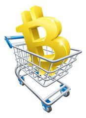Bitcoin Shopping Cart Concept