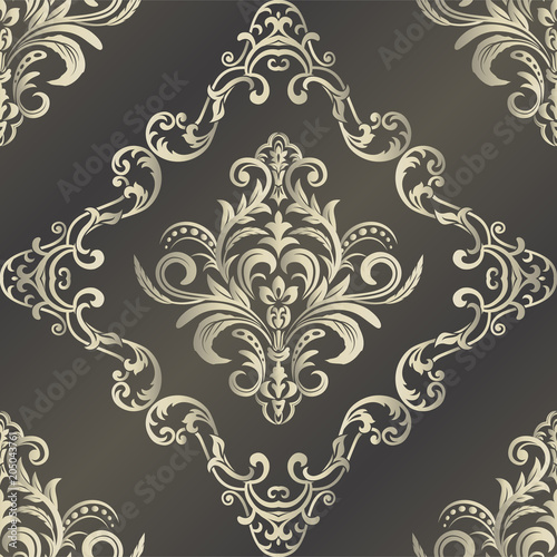 Seamless Damask Wallpaper Seamless Oriental Pattern