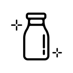 Milk bottle icon ( fresh milk)