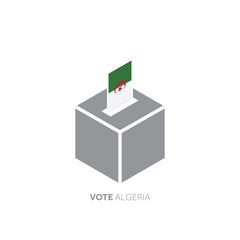 Algeria voting concept. National flag and ballot box.