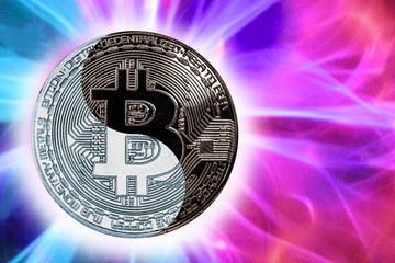 the concept coin bitcoin yin-yang