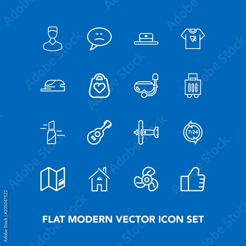 Modern simple vector icon set on blue background with guitar red modern simple vector icon set on blue background with guitar red find gumiabroncs Image collections