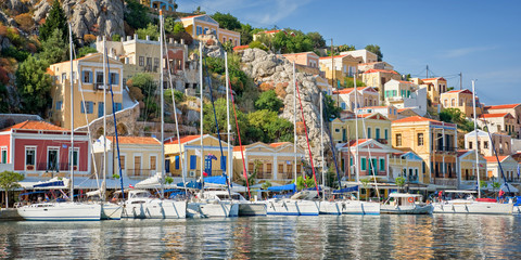 Wall Mural - Panorama of Symi, Dodecanese island, Greece