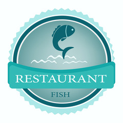 vector logo banner for advertising restaurant name blue