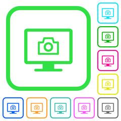Make screenshot vivid colored flat icons
