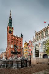 The Neptune Fountain in Gdansk