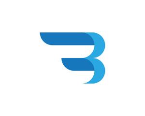 B Letter logo template