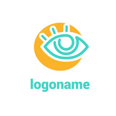 Logo design eye vector template.