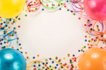 Festive party on white background