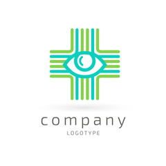 Logo design ophthalmologist vector template.