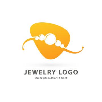 Logo design abstract necklace vector template.