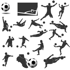 Icons Football Vector Collection