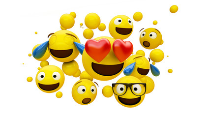 emoticons group isolated