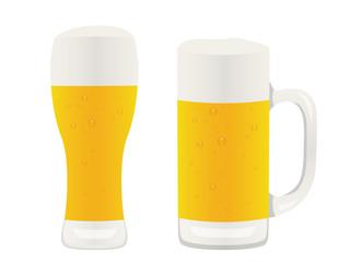 生ビール ビアグラストビールジョッキ イラスト素材