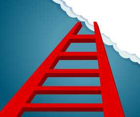 Ladder to the future. ladder to sky and cloud.