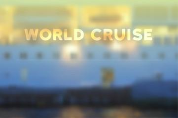 Ship blur vector background