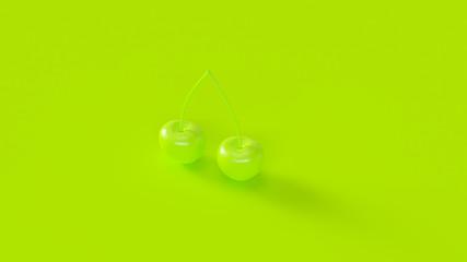 Green Cherries 3d illustration