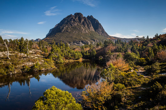 Little Horn reflected in Twisted Lakes, Tasmania