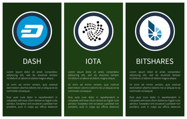 Round Cryptocurrency Symbols on Promo Posters
