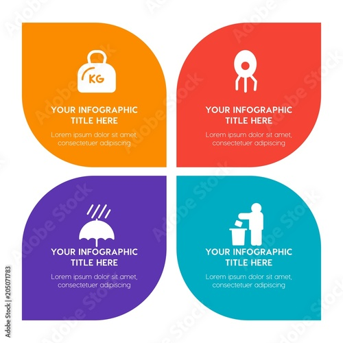 Flat science, sports, nature infographic timeline template with ...