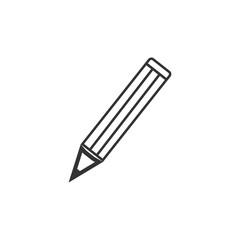 Pencil icon. Vector illustration, flat design.