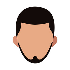 Young man faceless vector illustration graphic design