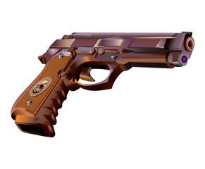 Gun revolver vector illustration isolated on white background
