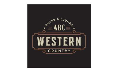 Vintage Country Emblem Typography for Western Bar/Restaurant Logo design inspiration