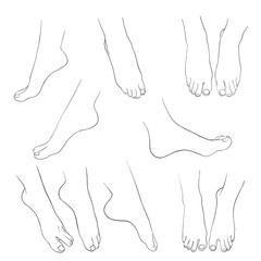 hand drawn women feet