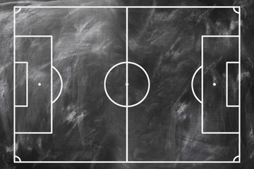 Soccer Strategy. Tactics. On the chalkboard