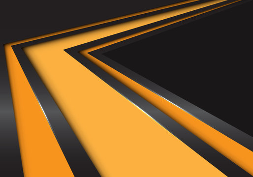 Abstract yellow arrow speed direction on black design modern futuristic background vector illustration.