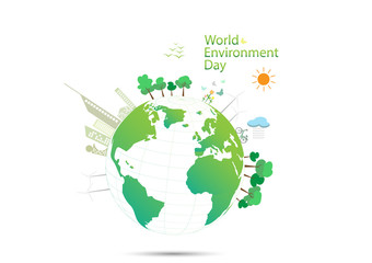 World environment day concept, vector illustration