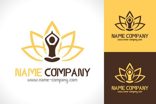 Logo Mediation Zen Lotus Yoga Santé Bien être
