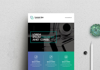 Business Flyer Layout with Gradient Element