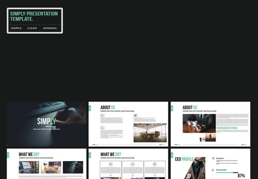 Presentation Layout with Teal Accents