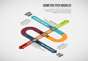 Overlapping Paths Infographic Layout