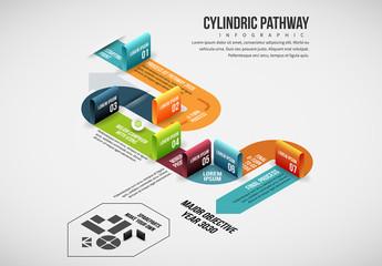 Ribbon Path Infographic Layout