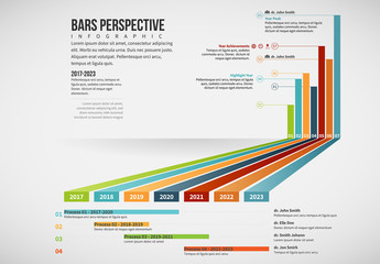 Perspective Timeline and Bar Graph Layout