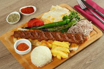 Adana Kebab in Restaurant Menu
