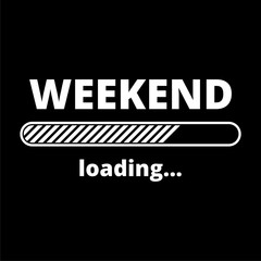 Loading Weekend icon on dark background