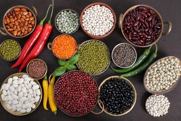 Beans, peas and lentils.