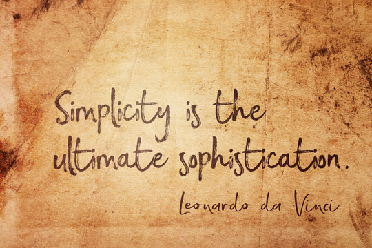 simplicity is Leonardo